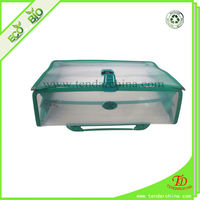Student File Holder For Office Or School Clear Plastic Briefcase