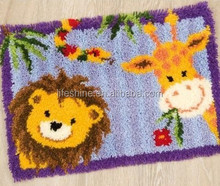 Animal latch hook rug craft embroidery kit