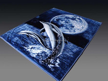 100% polyester double printed Mink blanket