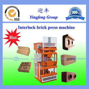 High quality but reasonable price YF1-10 pressed earth brick making machine