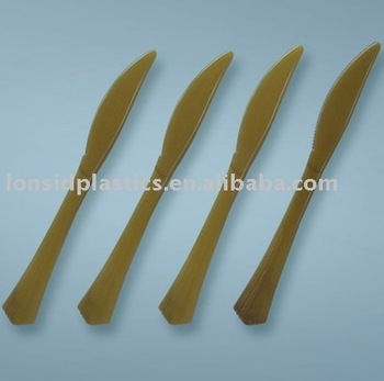 Heavy Weight PS Material Disposable Plastic Cutlery Knife