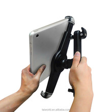 360 degree rotating car headrest mount holder for 9.5~14.5 inches tablet pc