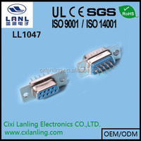 D-Sub male and female Connector ,HDP 2 Row PCB DIP Type 9 15 25 37 50 pin CE ROHS LL1047
