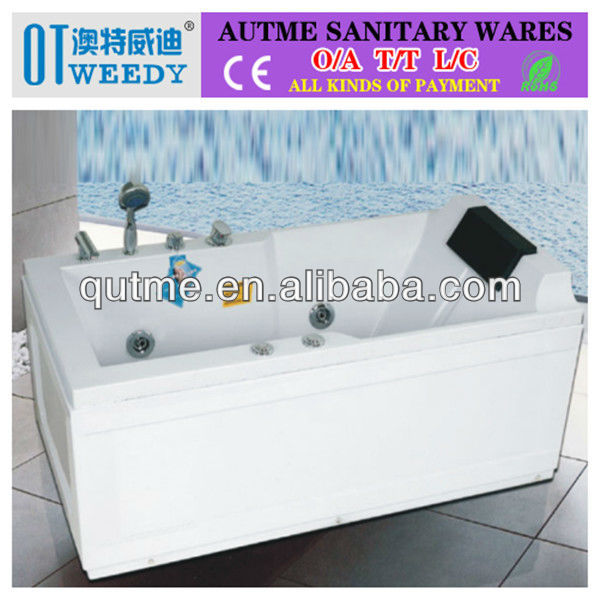 2016 hot sale new product abs back camping whirlpool massage bathtub indoor