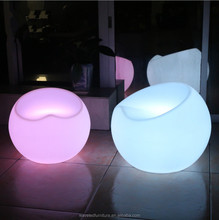 High quality illuminated PE plastic chair colorful led lighting bar chair