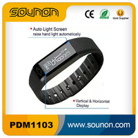 Factory Price OLED Touch Screen Bracelet Smart Watch, USB Charger Bracelet Calorie Pedometer, Bluetooth Step Counter