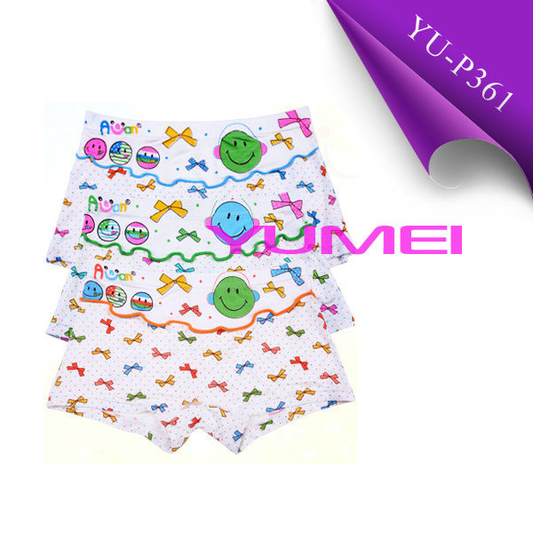 Cute cartoon boxer briefs for little girls underwear