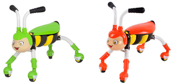Bee style scooter four-wheels baby walker