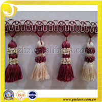 Latest Fashion Drapery Silk Fringe Trimming for Decoration Sofa