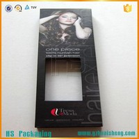 Factory Wholesale Custom Design Cheap Hair Extension Packaging Box