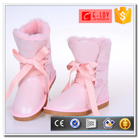 Latest custom sexy lace-up snow boots women european style boots