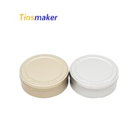 custom round soap tin box handmade conditioner bar gift packaging metal tins