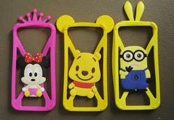Minions Despicable Me silicone mobile phone cover for iphone 4S