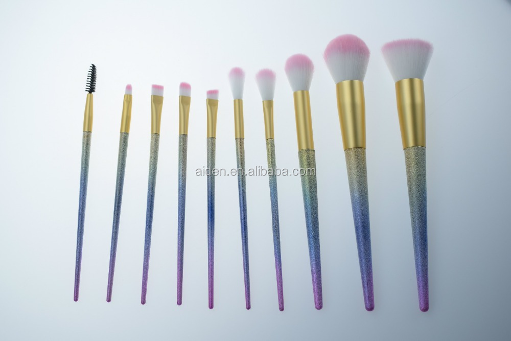 AIDEN-New Arrival 10Pcs Rainbow Gradient Color Fashion Symphony Makeup Brush