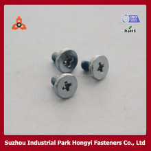 Leather Belt Screws Type Of Phillips Cross Recessed Flat Head With Nyloc Patch Zinc Plated