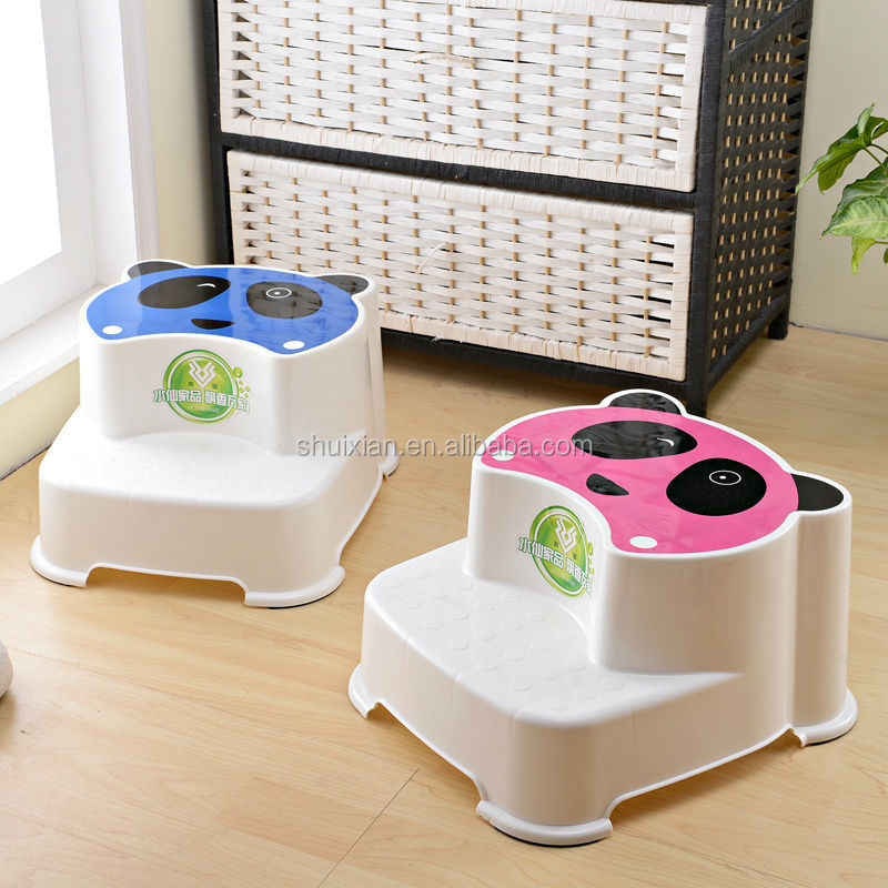 Very Cute Animal Shape Kids Toilet Helper Stool Plastic Lovely Two Step Bathroom Children Stool