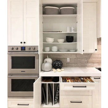 2020 Hangzhou Vermont Australia Bespoke New Modern White Lacquer Finish Shaker Kitchen Cabinets Door Design