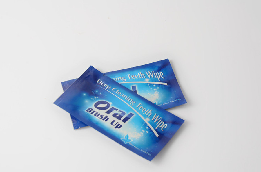 Wet Finger Wipes Disposable Teeth Whitening Wipes for Brushing Teeth