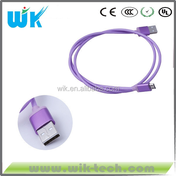 wik factory MFi authorized factory supply Round 8 pin usb braided cable for iphone 6 and ipad4