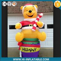 2016 hot eco handmade polyester felt wholesale dolls Christmas decorations heads inflatables Christmas father made in China