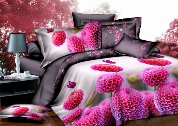 wholesale 120gsm 3D bedding set/duvet cover/pillowcaese