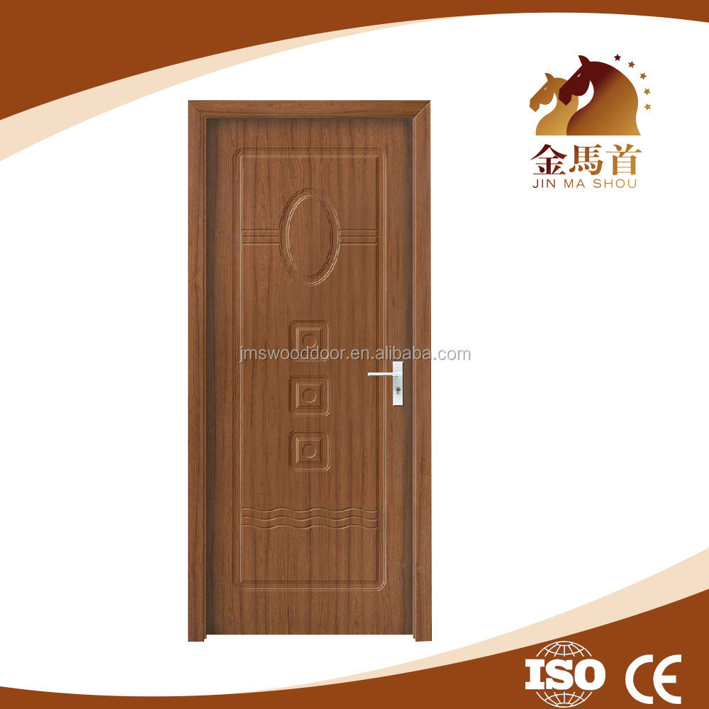 China 2016 New Design Interior pvc coated mdf pvc entry wood door
