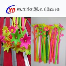 2016 promotional silicone kids love flower pen
