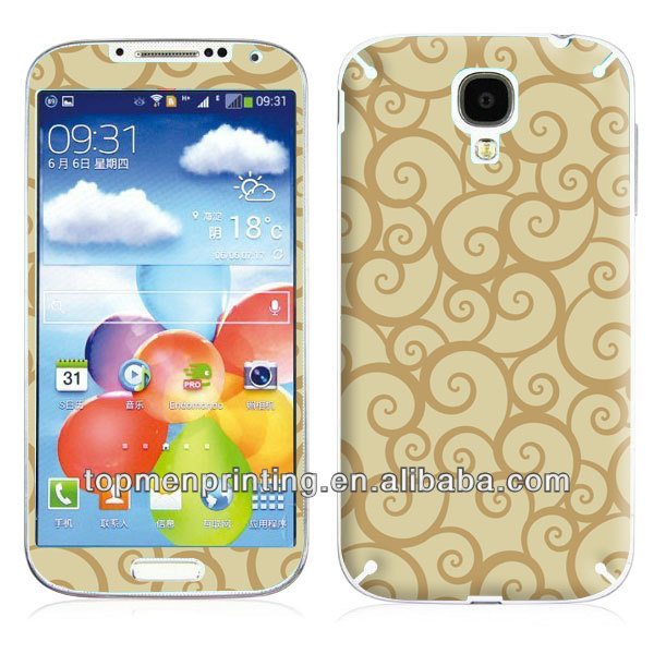 Protective sticker case for samsung galaxy s4