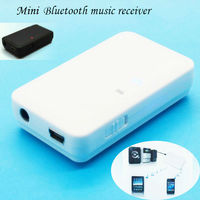 Factory Best Mini Bluetooth Stereo Audio Music Receiver Dongle Adapter for iPhone iPod Samsung PC white