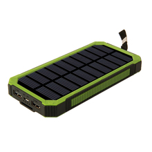 Fast charge 10000mAh charger qc3.0 solar power bank for cell phone