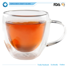 Double-Wall Insulated Coffee Mug Tea Cups Thermal Espresso Glasses