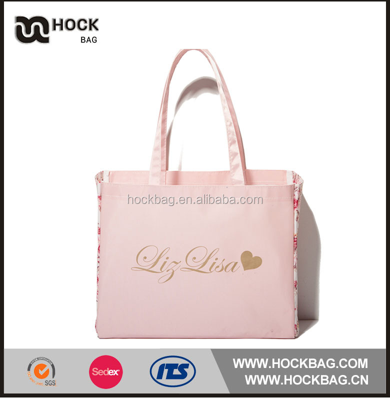 wholesale unique printed rose flower cotton shopping bag / gift bag