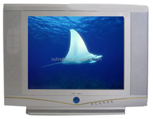 China pure flat cheap 21inch crt tv ultra slim small crt tv top quality