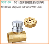 lockable BSP NPT Male Femal Forged Brass Magnetic Ball valve with lock