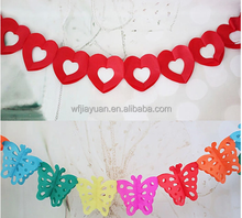 Large 3 M 3D Red Heart Paper Tissue Garland/ Wedding/Baby Shower/ Christmas