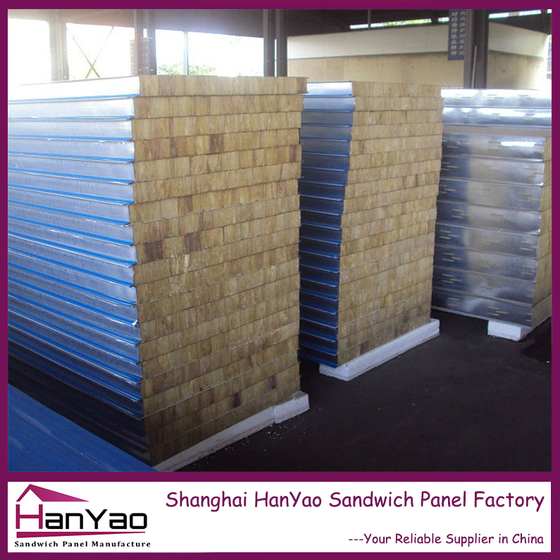 Low Price Fireproof Rockwool Sandwich Panel for Wall and Roof