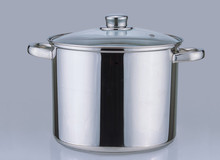 stainless steel hot pot casserole with glass lid