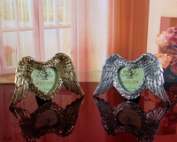 2016 Love Angel Wings Couple Of Oval Love Photo Picture Frame With Silver Gold For Home Living Room Decoration