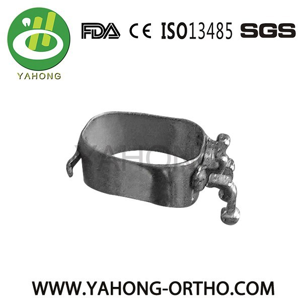 dental orthodontic biscupid molar bands with brackets