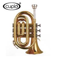 YTRU-301520GL CUPID Professional China gold lacquer Bb mini Pocket Trumpet