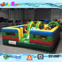 3D jungle bouncing castle inflatable snail themed bouncy castle for kids