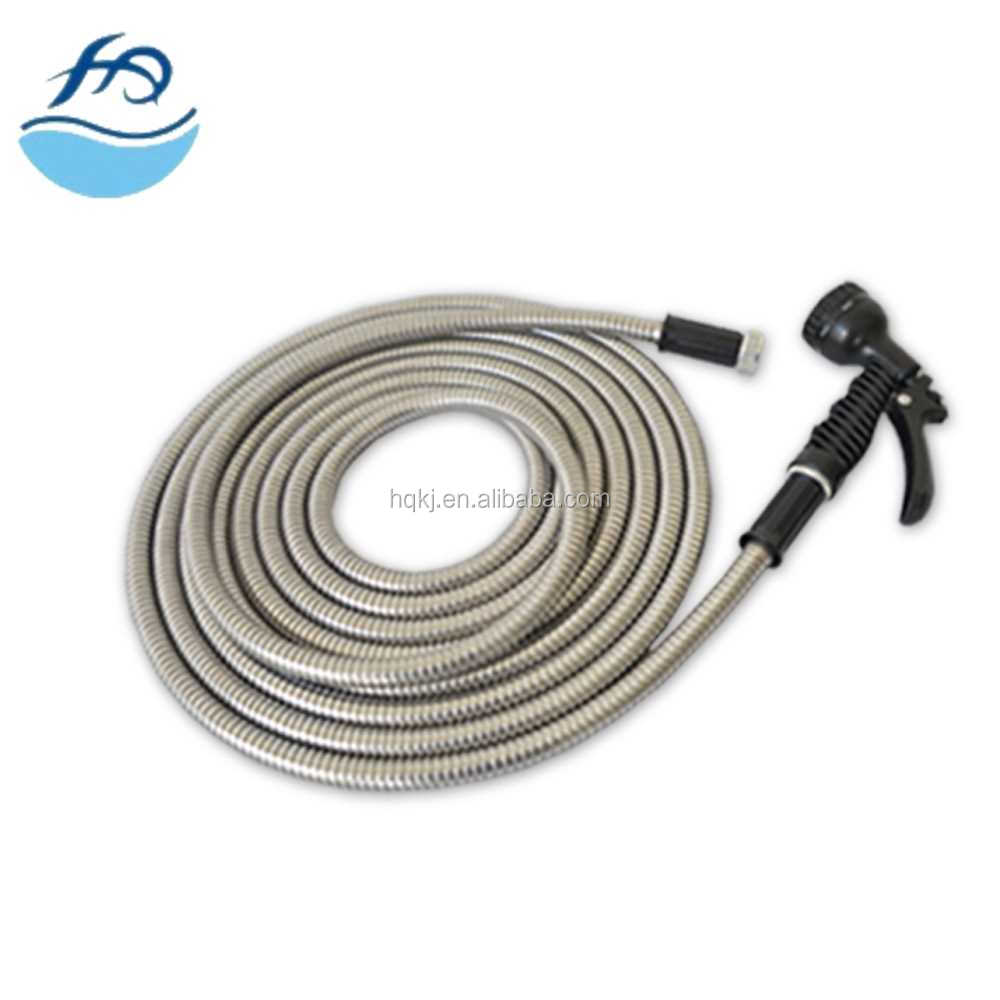 Haoqiang good price Stainless Steel Garden Hose mgj plum ferrule tube flexible conduit connector