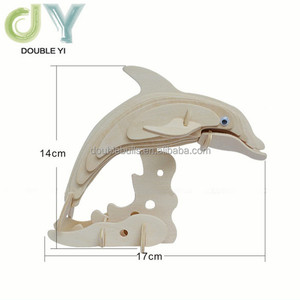 Cute dolphin model 3D puzzle , custom jigsaw puzzles toys
