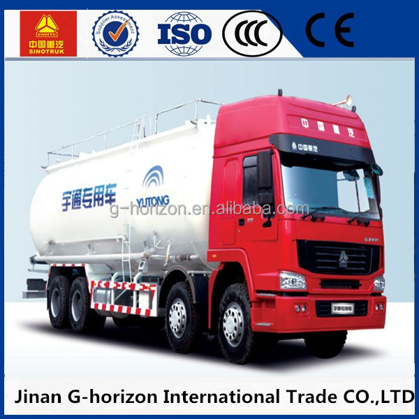 Competitive price Sinotruk 8*4 bulk cement powder tanker truck,Powder and particle material truck 40cbm capacity