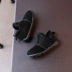 Hot Sale Manufacturer Wholesale Fashion Children Leather Soft Bottom Warm Boy Casual Shoes