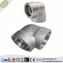 CHINA SUPPLY astm A105 carbon steel 90 degree socket weld forged pipe fittings elbow
