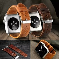 Crazy Horse Pattern Leather watch Band for Apple Watch 38mm/42mm, for Apple Watch leather band