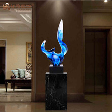 Customized hotel home decor abstract resin modern sculpture