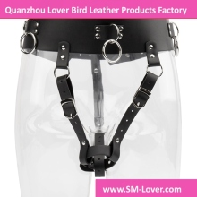 robbie 8 PU Leather Forced Belt Female Chastity Belt Magic Wand Holder Bondage Harness Strapon Sex Toys for Couples