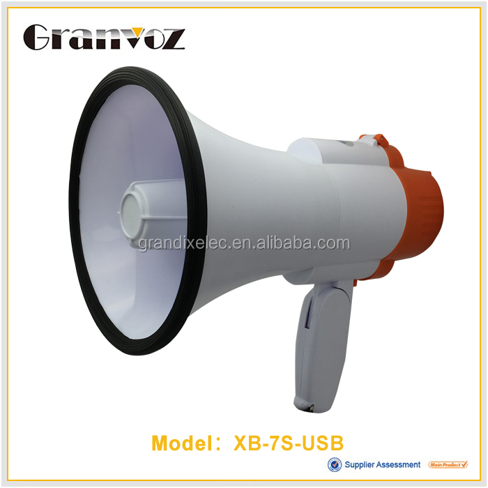 XB-7S/USB on Cover Pistol Grip RMS 25 Watt Cheer Megaphone